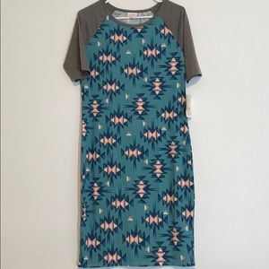 LulaRoe Aztec Print Dress Size Medium BNWT